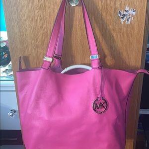 Pink Leather Michael Kors Bag